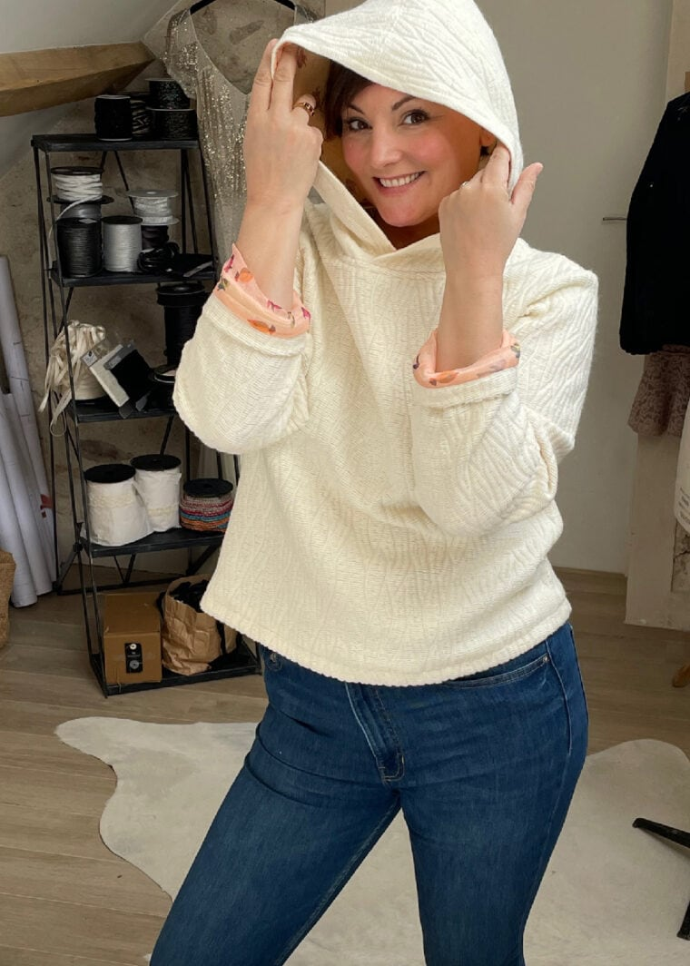 Sweat Upcycling Haute Couture Laine Soie NINA N4 2